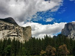 Half Dome from Valley Floor in Yosemite National Park 2traveldads.com