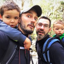 Taylor Family hiking in Yosemite National Park 1