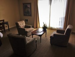 Living Area of Deluxe Family Room at Bodega Bay Lodge 1