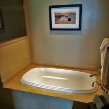 Bathroom in Deluxe Family Room at Bodega Bay Lodge 1