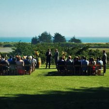 Bodega Bay Wedding on law at Bodega Bay Lodge