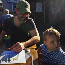 Chris Taylor and Tiny Man at Fishertarian Bodega Bay 1