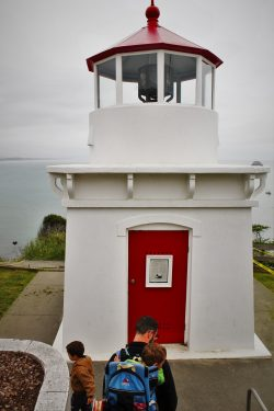 Taylor Family and Replica Trinidad Head Lighthouse 1