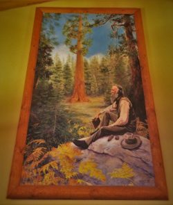 John Muir Painting in John Muir Lodge in Kings Canyon National Park 2