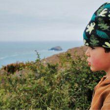 LittleMan hiking at Trinidad Head