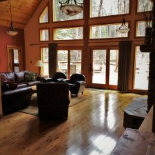 Living room of John Muir House at Evergreen Lodge at Yosemite National Park 1