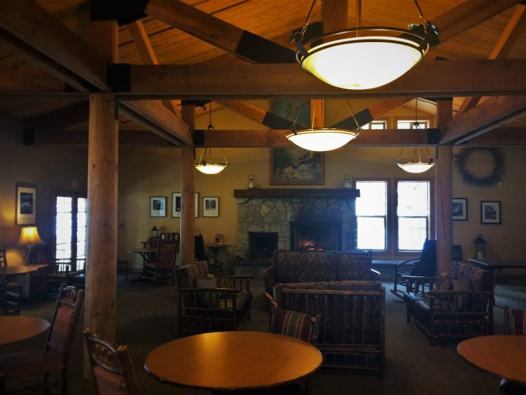 Lobby in John Muir Lodge in Kings Canyon National Park 1