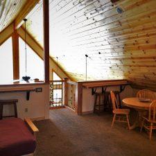 Loft area of John Muir House at Evergreen Lodge at Yosemite National Park 1