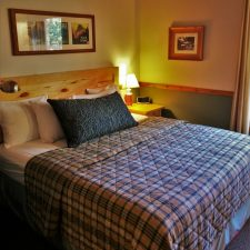 Master Bedroom in Family Cabin at Evergreen Lodge at Yosemite National Park 1