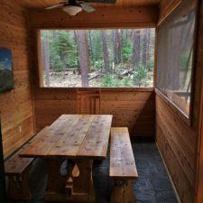 Outdoor dining room at John Muir House at Evergreen Lodge at Yosemite National Park 1