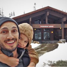 Rob Taylor and LittleMan at Snowy Wuksachi Lodge in Sequoia National Park 3