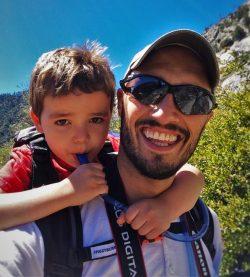 Rob Taylor and LittleMan hiking