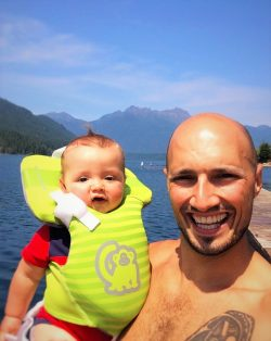 Rob Taylor and TinyMan at Lake Cushman 2015 1