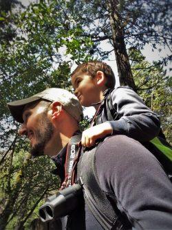 Rob Taylor and Tinyman using Piggyback Rider at Bridal Veil Falls in Yosemite National Park 3