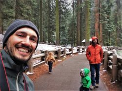 Taylor Family at General Sherman Tree trails in Sequoia National Park 1