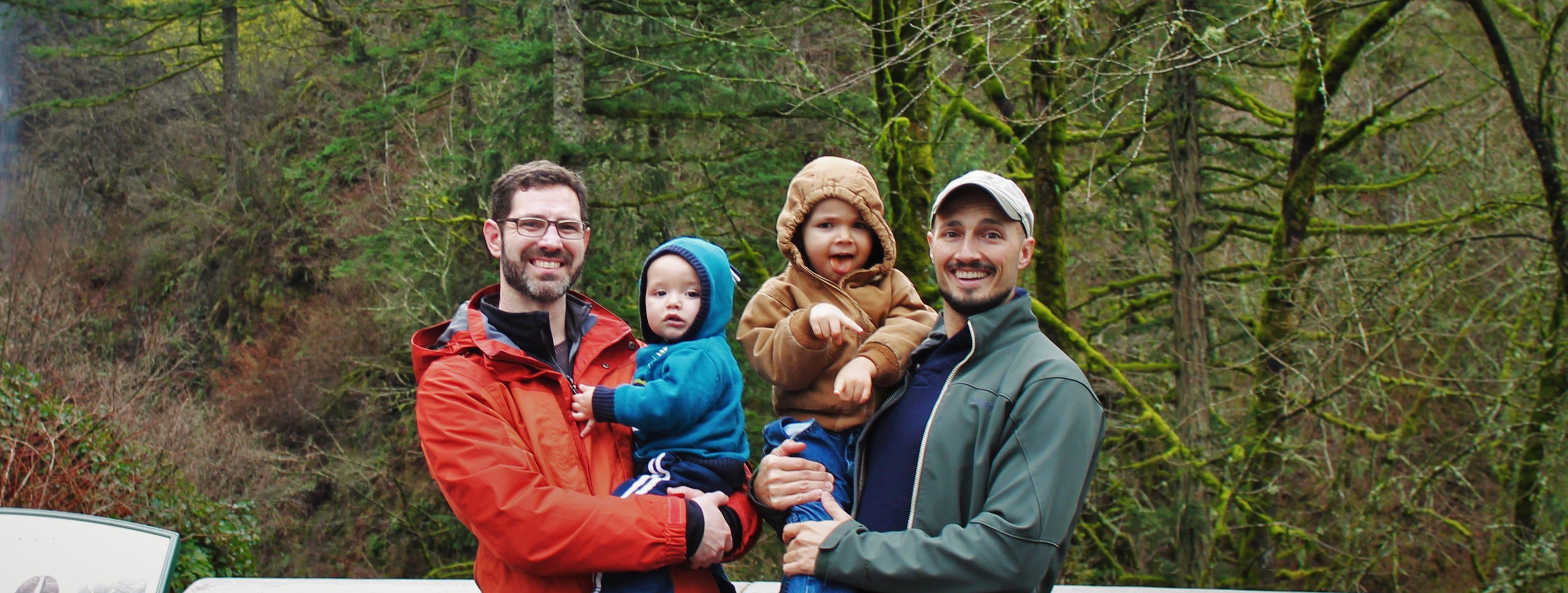 Taylor Family at Latourell Falls Waterfall Area Oregon 1