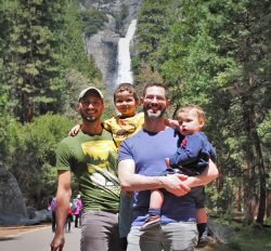 Taylor Family at Yosemite Falls in Yosemite National Park 2