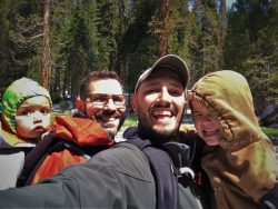 Taylor Family in Giant Forest in Sequoia National Park 2