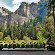 Tram tour in Yosemite Valley in Yosemite National Park 2 2traveldads.com