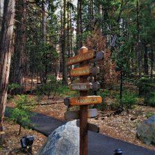 Walking path sign at Evergreen Lodge at Yosemite National Park 1