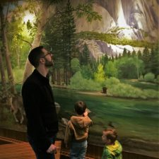 Wildlife Mural at Grant Village Visitors Center Kings Canyon National Park 3