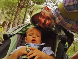 Chris Taylor and TinyMan hiking at Oregon Caves National Monument