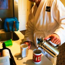 Chris Taylor with French Press at Majestic Inn Anacortes 1