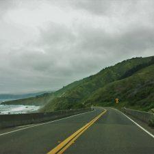 Redwood Highway along the coast