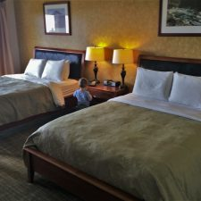 Beds in Condo unit at Pacific Reef Hotel Gold Beach Oregon Coast