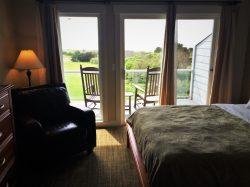 Bedroom balcony at Condo unit at Pacific Reef Hotel Gold Beach Oregon Coast