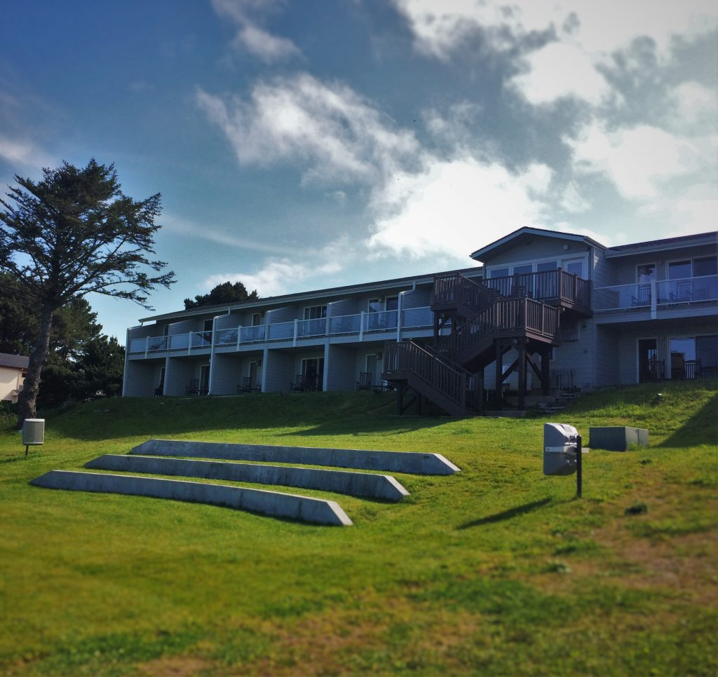 View from Outdoor bigscreen at Pacific Reef Hotel Gold Beach Oregon Coast