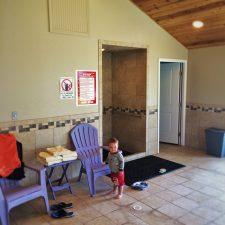 TinyMan in Hot Tub cabana at Pacific Reef Hotel Gold Beach Oregon Coast