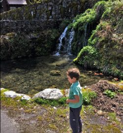 LittleMan at Oregon Caves National Monument waterfall
