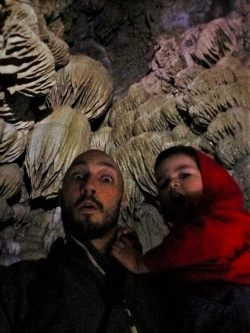 Rob Taylor and LittleMan in Oregon Caves National Monument