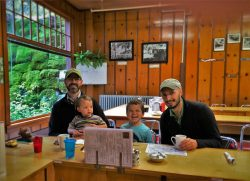 Taylor Family in Coffee Shop at Oregon Caves Chateau