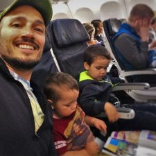 Rob Taylor and Kids on Flight