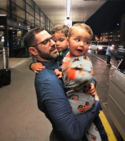 Chris Taylor and Kids at SeaTac