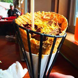 Mashed Potato Cone at Trinidad Lighthouse Cafe 2traveldads.com