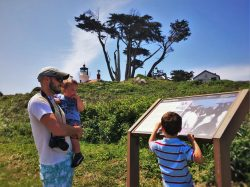 Rob Taylor and Kids at Battery Point Lighthouse Crescent City 2
