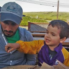 Rob Taylor and Tiny Man at Fishertarian Bodega Bay 2