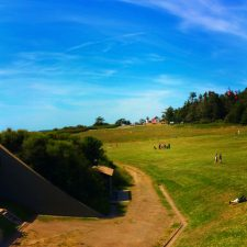 Admiralty Head Lighthouse from bunkers at Fort Casey Whidbey Island 1e