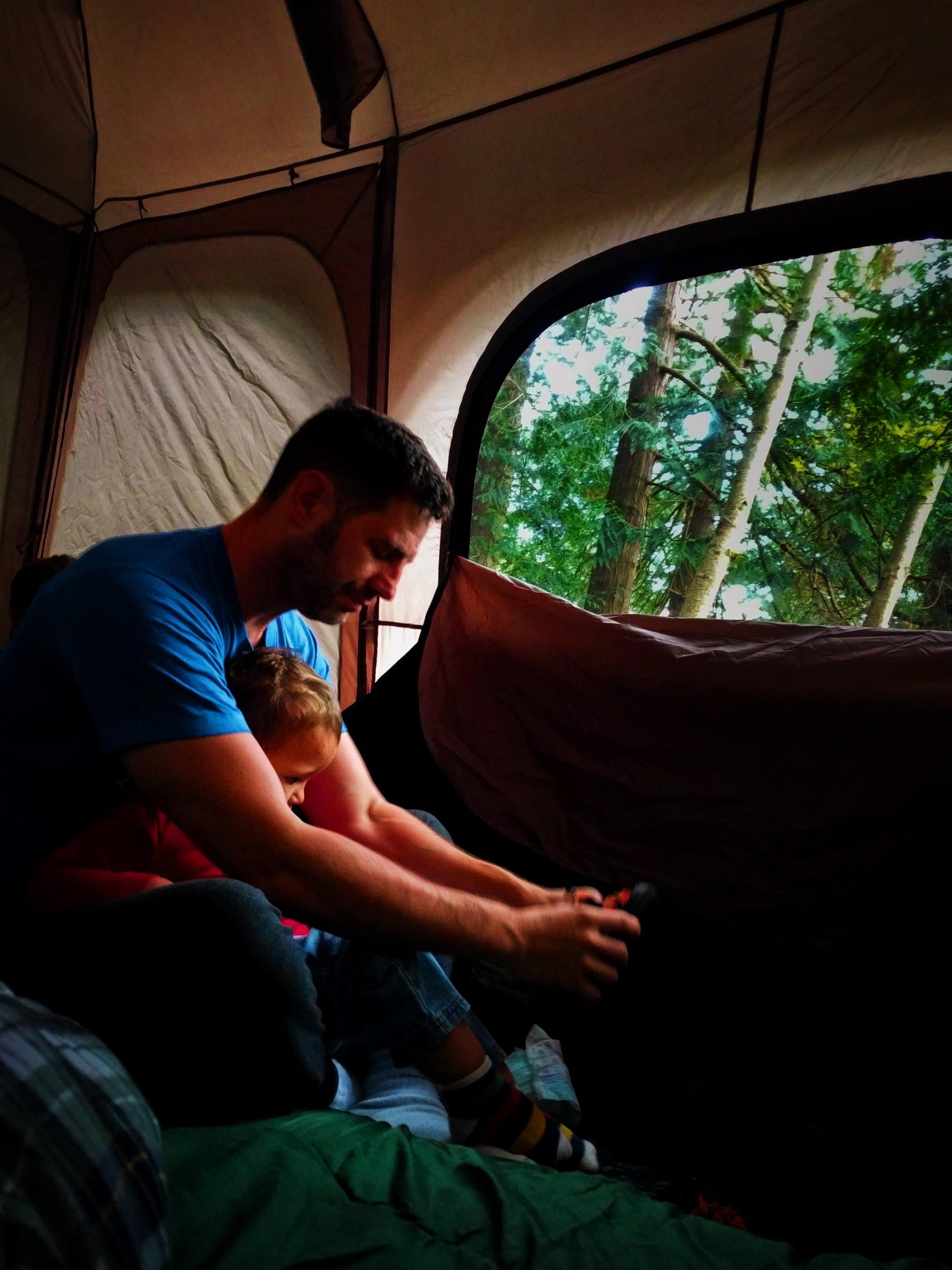 Chris Taylor and TinyMan Camping at Washington Park Anacortes 1