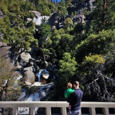 Chris Taylor and TinyMan at Cascade Creek in Yosemite National Park 1
