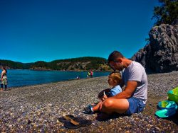 Taylor family at beach Deception Pass State Park Whidbey Island 2