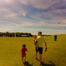 Taylor family with kites at Fort Casey Whidbey Island 1