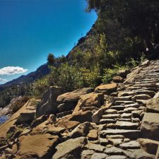 Granite staircase at Hetch Hetchy Yosemite National Park 2