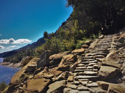 Granite staircase at Hetch Hetchy Yosemite National Park 2