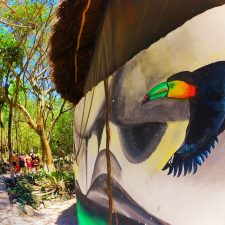 Toucan Mural at Cenotes Dos Ojos Playa del Carmen Mexico