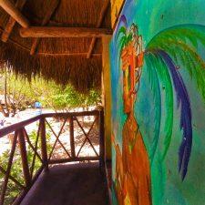 Mural at Cenotes Dos Ojos Playa del Carmen Mexico