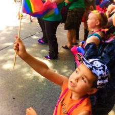 Taylor Family at Seattle Pride Parade 2016 1